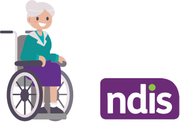 elderly with ndis logo